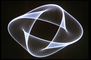 Modulated Vibration Patterns on a TV Screen